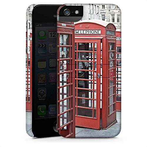 Apple iPhone X Silikon Hülle Case Schutzhülle Rote Telefonzelle England Großbritannien Premium Case StandUp