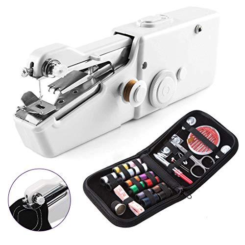 Mini Maquina de Coser Portatil,YOMMY Portátil Herramienta de Puntada Rápida para Tela Ropa o Tela de Niños con set de costura Uso de Viaje y Casa