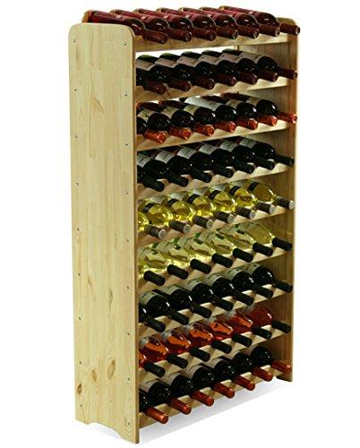 MODO24 Estantería de Botellas de Vino Armario Soporte botellero para 63Botellas de...