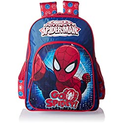 Spiderman Polyester Blue and Red School Bag (Age group :8-12 yrs)