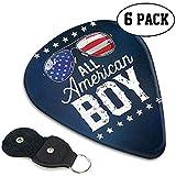 Alle American Boy 4. Juli Jungen Kinder Sonnenbrille Plektren 6er Pack Universal Abs Plektren für Akustik- und E-Gitarre .46mm