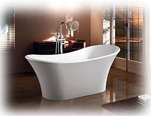 Vasca Da Bagno Con Piedini Dimensioni : Vasca da bagno freestanding 180x80 cm sirio: amazon.it: casa e cucina