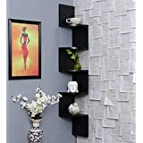 Dime Store Wall Shelf Wooden Wall Mount Wall Corner Shelf Wall Shelves Rack for Home Decor Items Wall Room Decor and Display