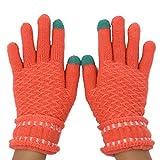 Generic Schöne warme Smartphone Finger-Handschuhe für Damen mit Touch-Funktion in den Fingerspitzen zur Handy-Benutzung | Herbst Winter