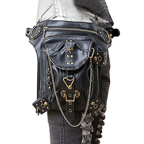 Bag Steam Punk Retro Rock Gothic Goth Shoulder Waist Bags Packs Victorian Style for Women Men + Leg Thigh Holster Bag