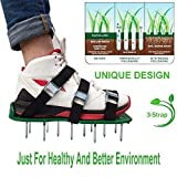 30 * 13cm Grass Spiked Gardening Walking Revitalizing Lawn Aerator Sandals Shoes 1