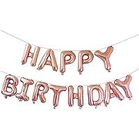 Rzctukltd Happy Birthday Banner Balloon Bunting 16 Inch Letters Foil