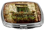 Rikki Knight Compact Mirror, Tower Balcony in Italy, 3 Ounce