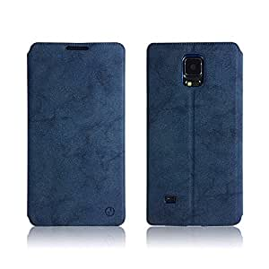 Defender GD Royal Velvet Texture Premium MAGNETIC Flip Case Cover with Convertible Back Stand and Card Slot For Samsung Galaxy S5 / S5 LTE - BLUE