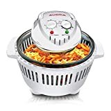 Home Kitchen Small Digital Halogen Convection Oven Cooker 12L with Lid Air Fryer