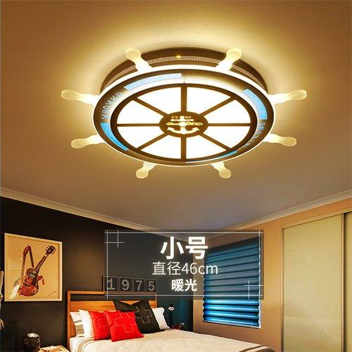 BRFVCS ceiling light Kinderzimmer Beleuchtung boot Steuermann jungen Zimmer mit einfachen und modernen, kreativen Deckenleuchte led Cartoon Kinderzimmer Lichter, kleine Durchmesser 46 warmes Licht