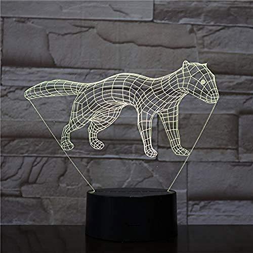 3D Acryl LED Nachtlicht Tier Katze Xenon Licht 7 Farbe Ankleidezimmer Dekoration Kind Kind Baby Kit Nachtlicht Schlaf Licht Geschenk USB -