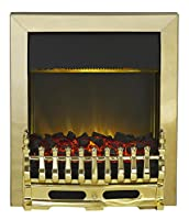 Adam Blenheim Electric Inset Fire, 2000 W, Brass
