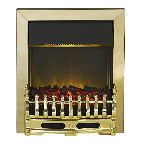 519ogGYdvcL. SS500  - Adam Blenheim Electric Inset Fire, 2000 W, Brass, 10297