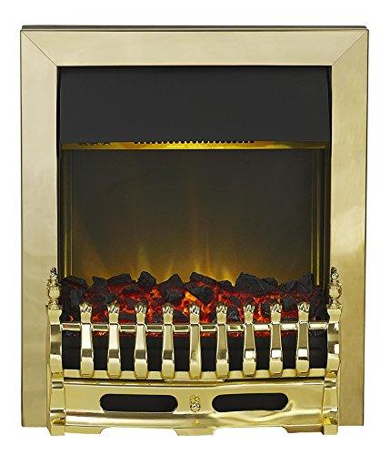 519ogGYdvcL - Adam Blenheim Electric Inset Fire, 2000 W, Brass