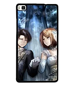 Fuson Designer Back Case Cover for Huawei P8 (so let it be because the heart )
