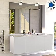 Meuble salle bain double vasque design - Amazon meuble salle de bain ...