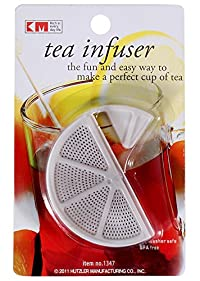 KM Green Herbal Tea Bag Infuser Strainer, Color: White