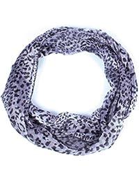Schal Schlauchschal Loop Tuch mit Leopardenmuster - erhältlich in verschiedenen Farben