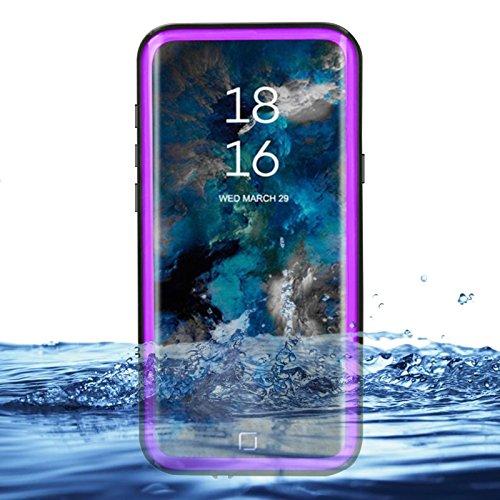 eazewell Galaxy S9Wasserdicht Schutzhülle, Ultra Slim 100% Unterwasser stoßfest Schneedicht Schutzhülle Transparent Rückseite Haut Rugged Box für Samsung Galaxy S9sm-g960, Violett Touchable Crystal Case