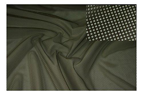 Fabrics-City OLIV NETZSTOFF KLASSIK LOCHFILET NETZ STOFF WABE 2MM STOFFE, 4170 - Stretch-mesh-2 Stück