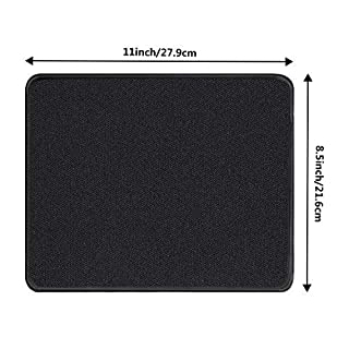 Lvcky 3 Pack Black Mouse Pad Gaming Mouse Pads with Nonslip Rubber and Stitched Edges Comfortable Computer Mouse Pad 8.2 x 10.2 Inch