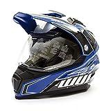 Wulfsport 2019 Prima-X Dual Sport Adventure Enduro Adult Helmet Blue Medium Dirt/Pit Bikes