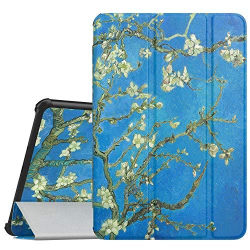 MoKo Cover per Samsung Galaxy Tab S4 10.5 SM-T830N/T835N,Ultra Sottile Leggero Supporto Custodia per Samsung Galaxy Tab S4 10.5 SM-T830N/T835N Tablet(Auto Sveglia/Sonno),Albicocchi in Fiore