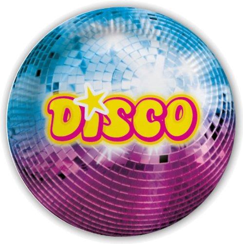 ISCO * für Party und Geburtstag von DH-Konzept // Teller Partyteller Party Fete Set Mottoparty Glitzer Glitter ()