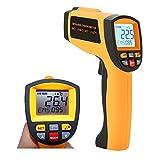 Digital Laser Infrarot Thermometer IR Pyrometer berührungslos Temperaturmessgerät Temperaturmesser -58℉~2102℉ (-50°C-1150°C), LCD Beleuchtung mit Dual Laser visuelles Target, High / Low Temp Alarm