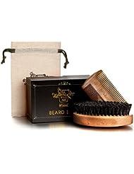 BFWood Brosse barbe poil de sanglier et peigne barbe bois - militaire