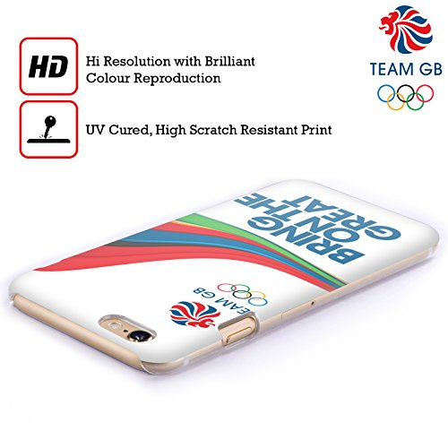 Official Team GB British Olympic Association Fluid Bands 1 Rio Hard Back Case for Apple iPhone X Fluid Bands 1
