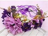 ZGP &Kopfschmuck Krone Blumen-Kranz, Stirnband-Blumen-Girlande-Handgemachtes Hochzeits-Braut-Partei-Band-Stirnband Wristband Hairband (Farbe : D)