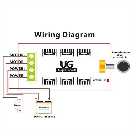 Uniquegoods 12v 24v 36v 48v 40a 2000w Pwm Dc Motor Speed Controller Adjustable Variable Speed Switch Hho Driver Motor Speed Controllers
