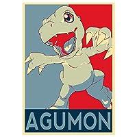 Instabuy Posters Digimon Propaganda Agumon - A3 (42x30 cm)