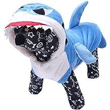 Freebily Disfraz de Tiburón para Mascota Ropa Traje de Perro Cachoro Perrito Gato Sudadera