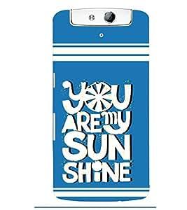 printtech Sun Shine Back Case Cover for Oppo N1