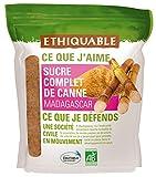 Ethiquable Sucre Complet de Canne Poudre Madagascar Bio 750 g - Lot de 4