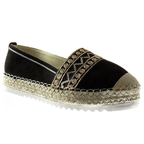 eb6c2dfd15c60 Angkorly Damen Schuhe Espadrilles Mokassin Plateauschuhe SlipOn ...
