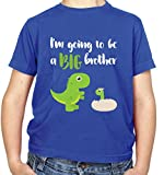 Best Big Brother Tshirt Kids - Big Brother Dinosaur - Kids T-Shirt - Royal Review