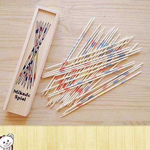 Cloverclover Baby-pädagogisches Holz Traditionelles Mikado Spiel Pick Up Sticks Werkzeug mit Box Spiel Entwicklung Math Ability