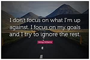 Posterskart Focus On Goals Motivational Quote Poster