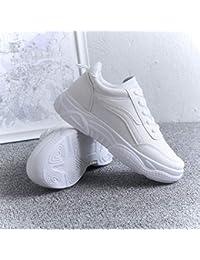 HOESCZS Tacchi Alti Sneakers Aumentato Scarpe da Donna Spessore Soled Pan di  Spagna Primavera Nuove Scarpe Sportive Scarpe Casual 336fe92c939