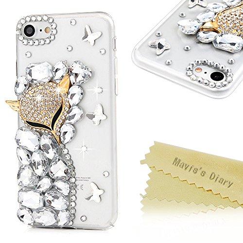 maviss-diary-iphone-747-zoll-hulle-hard-glanz-strass-3d-muster-gold-fuchs-transparent-schmetterling-