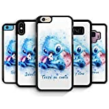 Coque Silicone Bumper Souple iPhone XS Max - Lilo & Stitch Aquarelle Pastel...