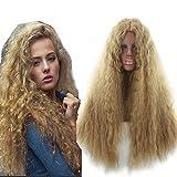 Frauen Perücken, goldener Mais, heiß, kleine Brötchen, Wellen, Wasser, lange Haare