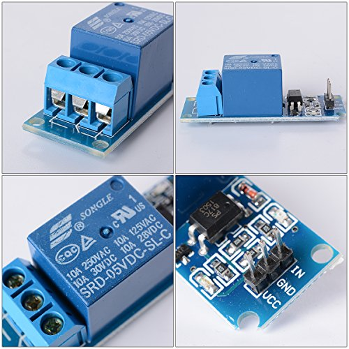 XCSOURCE 5STK 5V 1 Kanal Relais Schildmodul Optocoupler für PIC ACR DSP ARM Arduino TE213