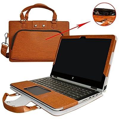 """2 en 1 spécialement conçu Etui de protection en cuir PU + sac portable Sacoche pour 14"""" ASUS VivoBook Flip 14 TP410UA TP410UR Series ordinateur"""