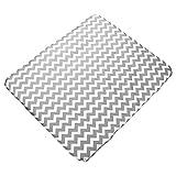 Sugarapple Wickelauflagenbezug Zic-Zack grau aus 100% Baumwolle, 85 x 75 cm, mit Reißvverschluss Öko-Tex Standard 100