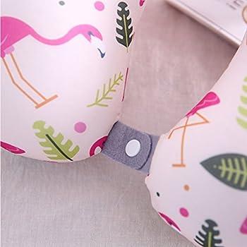 Boyann Flamingo Mikroperlen Nackenhörnchen U-förmigen Reisekissen Bücherkissen Muster 7 3